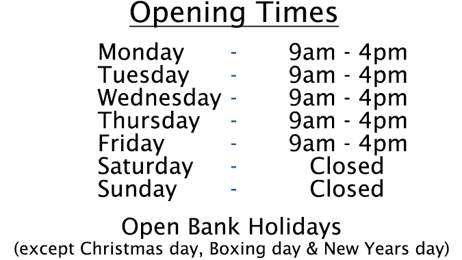 Pendle Frozen Foods: Opening times